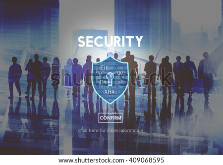 Security Safety Data Protection Concept - stock photo