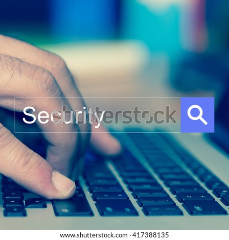 Security SEARCH WEBSITE INTERNET SEARCHING CONCEPT - stock photo