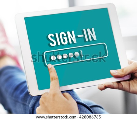 Security Sign Log In Up Password Secret Concept - stock photo