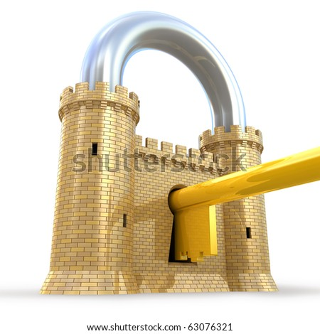 Security system - stock photo