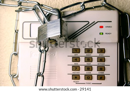 Security System - Chain & Lock - Alarm - Concept Photo