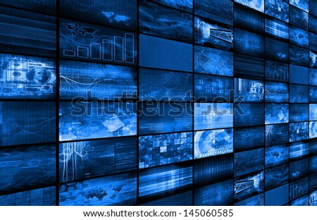 Security System Network for Online Web Protection - stock photo