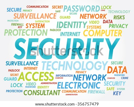SECURITY word cloud, business concept - stock photo