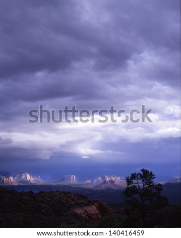 Sedona, Arizona, Famous vacation spot for the whole family/Sedona/Perfect place for mild weather, red rock formations, open spaces, water recreation sports, shopping, hiking and natures beauty. - stock photo