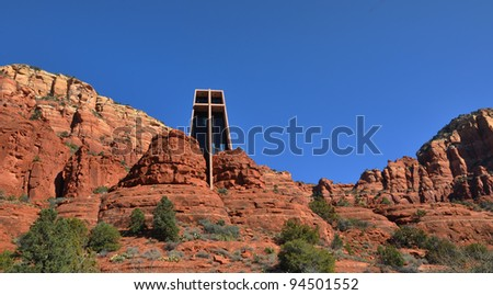 Sedona Arizona red rock country with church