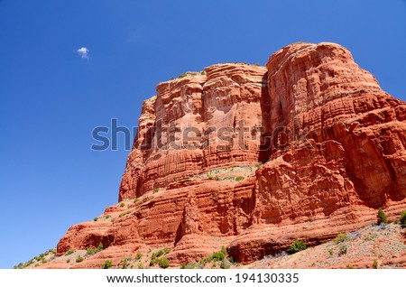 Sedona park straddles the county in the northern Verde Valley region of the U.S. state of Arizona. Sedona's main attraction is its array of red sandstone formations. - stock photo