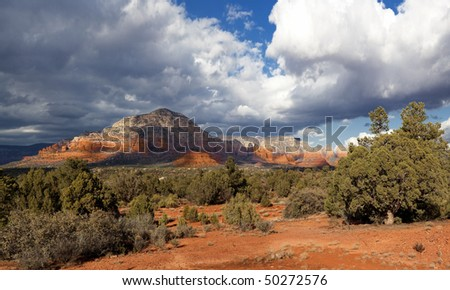 Sedona Red Formations - stock photo