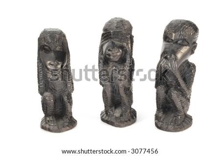 See No Evil. Speak No Evil, Hear No Evil Monkeys - stock photo