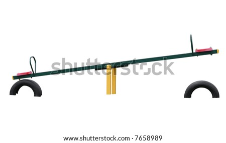 See Saw - stock photo