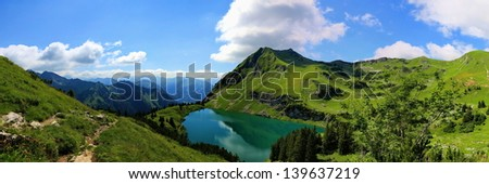Seealpsee - stock photo
