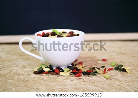 Seeds,Beans in a cup  - stock photo