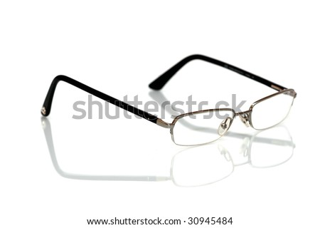 Seeing glasses isolated on white background - stock photo