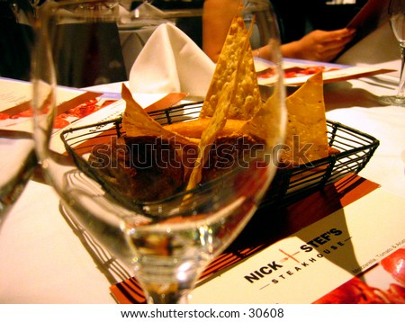 Seeing though a wine glass - stock photo