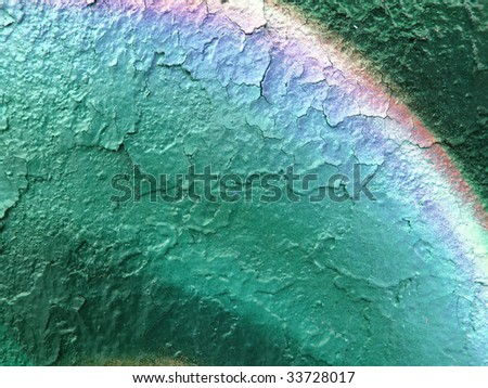 segment of a brightly painted wall - stock photo