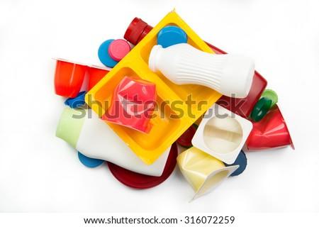 Segregated plastic garbage - stock photo