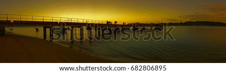Seisia Jetty near Bamaga Cape York Australia sunset
