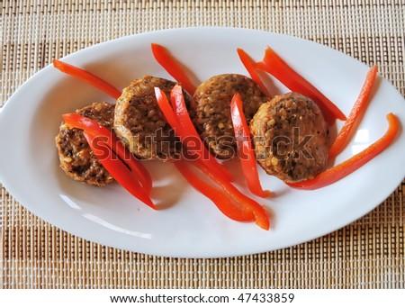 seitan and pepper - stock photo