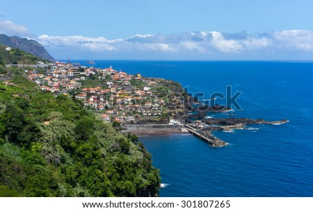 SEIXAL, PORTUGAL - JULY 21: Viewpoint over Seixal and the coast of north Madeira on JULY 21, 2015.
