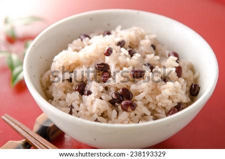 sekihan japanese food - stock photo