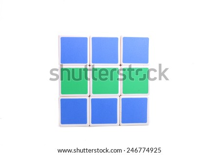 Selangor, Malaysia - Jan 25, 2015: Rubik's Cube on a white background. Rubik's Cube invented by a Hungarian architect Erno Rubik in 1974. - stock photo