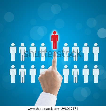 Select person career to work job business concept. - stock photo