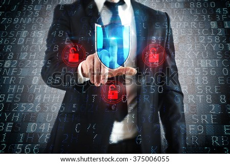 Select security shield - stock photo