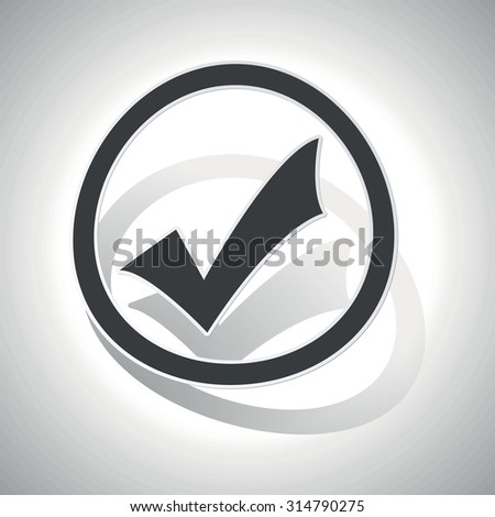 Select sign sticker, curved, with outlining and shadow