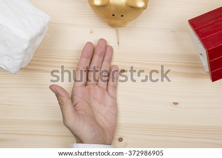Select the house - stock photo