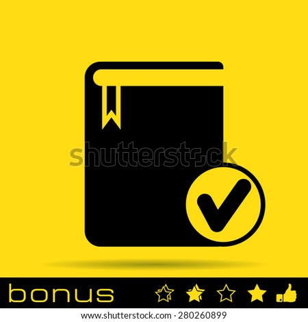 selected book icon  - stock photo