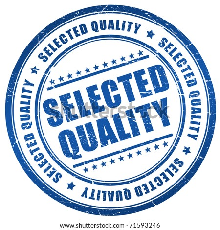 Selected quality stamp - stock photo