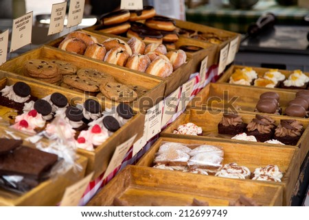 selection of confectionery.  - stock photo