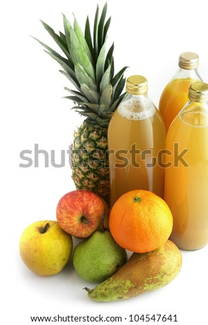 Selection of fruit juices - stock photo