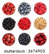 Selection of summer berries - stock photo