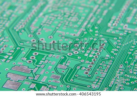 Selective focus of PCB fragment