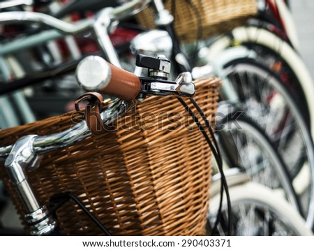 Selective focus on bicycles