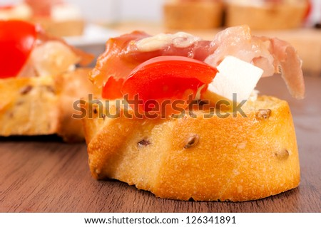 Selective focus on the bread - stock photo