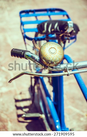Selective focus point on vintage bicycle - vintage filter