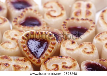 selective focused  fresh baked cookies - stock photo