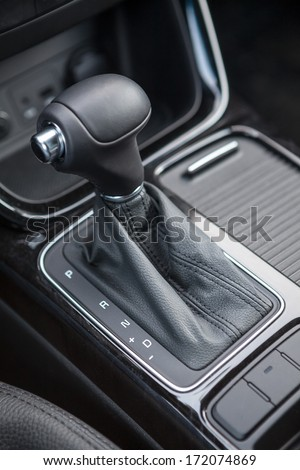 Selector of an automatic transmission gear of car - stock photo