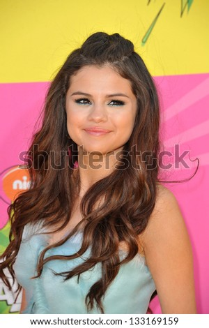 Selena Gomez at Nickelodeon's 26th Annual Kids' Choice Awards at the Galen Centre, Los Angeles. March 23, 2013  Los Angeles, CA Picture: Paul Smith - stock photo