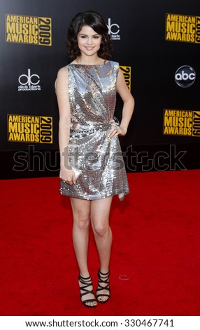 Selena Gomez at the 2009 American Music Awards at Nokia Theatre L.A. Live in Los Angeles, USA on November 22, 2009. - stock photo