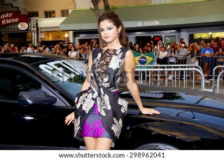 Selena Gomez at the Los Angeles premiere of Getaway held at the Regency Village Theatre in Westwood on August 26, 2013 in Los Angeles, California. - stock photo