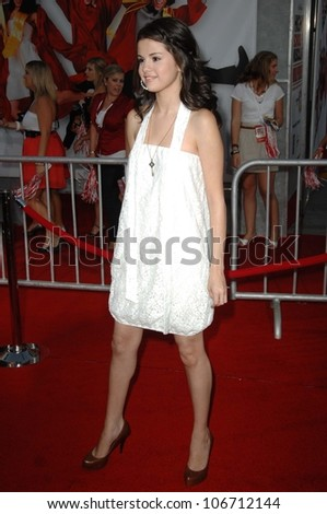 Selena Gomez  at the Los Angeles Premiere of 'High School Musical 3 Senior Year'. USC, Los Angeles, CA. 10-16-08