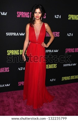 "Selena Gomez at the Los Angeles Premiere of ""Spring Breakers,"" Arclight, Hollywood, CA 03-14-13"