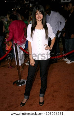 """Selena Gomez  at the World Premiere of """"Wall E"""". Greek Theatre, Hollywood, CA. 06-21-08 - stock photo"""