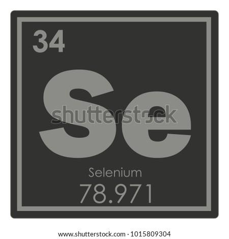 Selenium Chemical Element Periodic Table Science Stock Illustration
