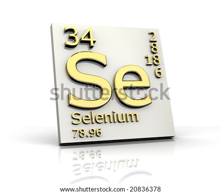 Selenium form Periodic Table of Elements - stock photo