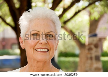 Self assured woman - stock photo