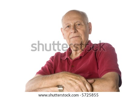 Self confident senior man - stock photo