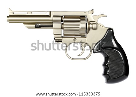 Self-defense, even for lethal and dangerous handgun. Cautious, prudent use requires. - stock photo